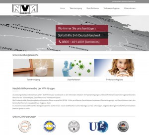 Website NVN-Gruppe